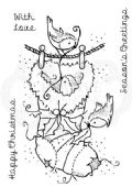 Woodware - Cosy Stocking - Clear Magic Stamp Set - FRS709